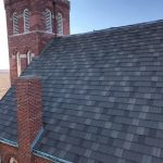 newly installed asphalt shingles