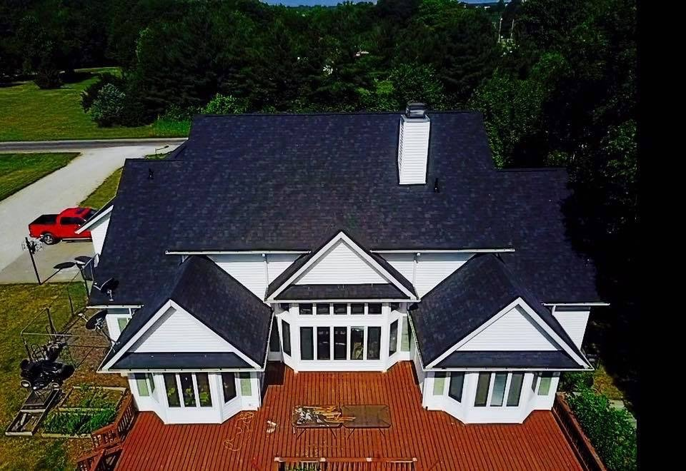 a photo of residential roofing