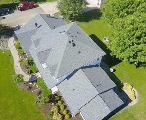 view from the top of a residential roofing